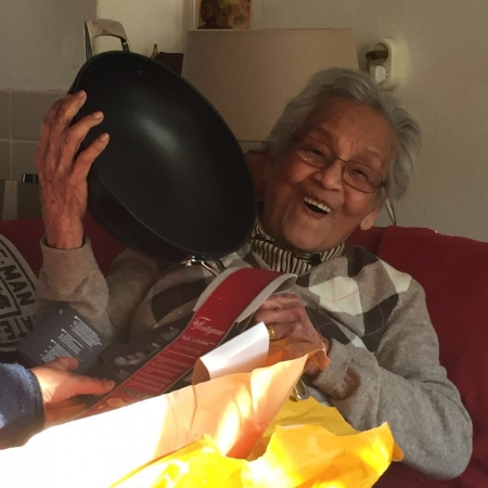 Oma Paula werd 90