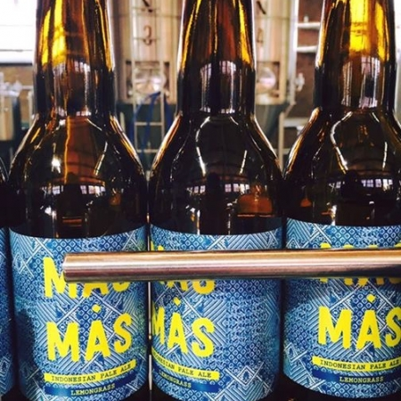 MAS-MAS bier gebotteld