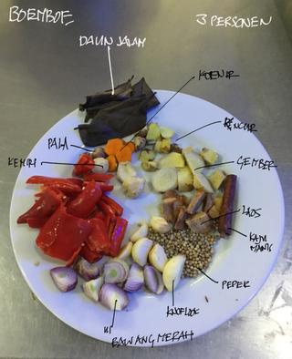 Rendang ingrediënten